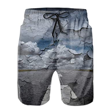 bdd9e3098f149 Amazon.com: FSFFDFEEE Men¡¯s Swim Trunks Workout Shorts Colorful Leopard  Printed: Clothing