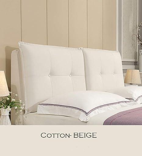 Amazon.com: Cojín para respaldo de cama de algodón con ...