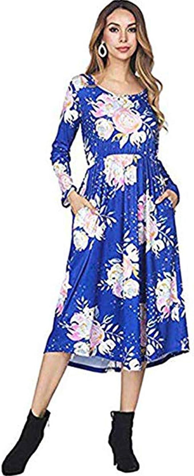 FeelinGirl Damen Lange Kleid Kleider Sommerkleider Maxikleider