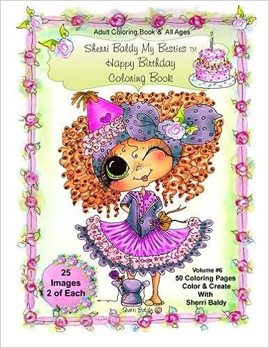 Sherri Baldy My Besties Birthday Coloring Book Sherri Baldy My
