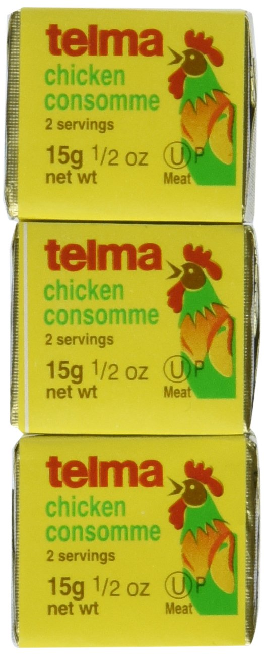 Telma Cubes,Chicken Consomme, 3/ 0.5-Ounce Cubes  (Pack of 12)