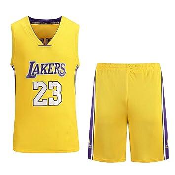 Cavaliers, Lakers, 23er Jugador De Jersey De Baloncesto Bordado Jersey, Conjunto Amarillo: Amazon.es: Deportes y aire libre