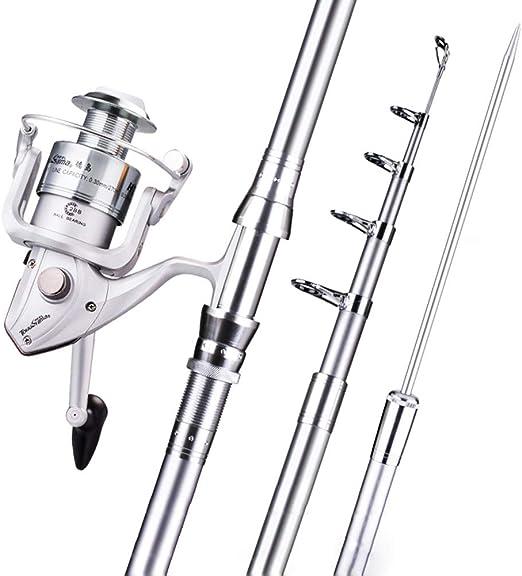 BENPAO - Caña de Pescar telescópica de 3 m y HT4000 Spinning Rod ...