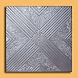 50pc of Malta Silver (20''x20'' Foam) Ceiling Tiles - Covers about 135sqft