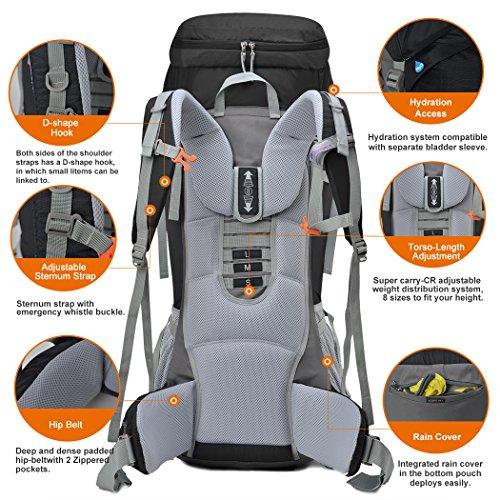 Amazon.com : Mountaintop 75L Outdoor Sport Water-resistant ...