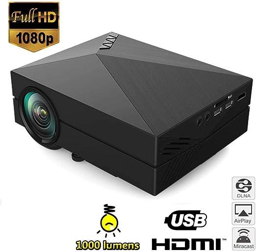 Mengen88 Mini proyector LCD Multimedia de Cine en casa 1000 ...