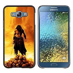 Jordan Colourful Shop - Skull Warrior For Samsung Galaxy E7 E7000 Personalizado negro cubierta de la caja de pl????stico