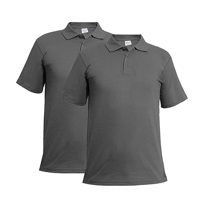 22ea29677956e7 Mens Plus Size Polo Shirt Classic Plain Big and Tall T-Shirts   Amazon.co.uk  Clothing