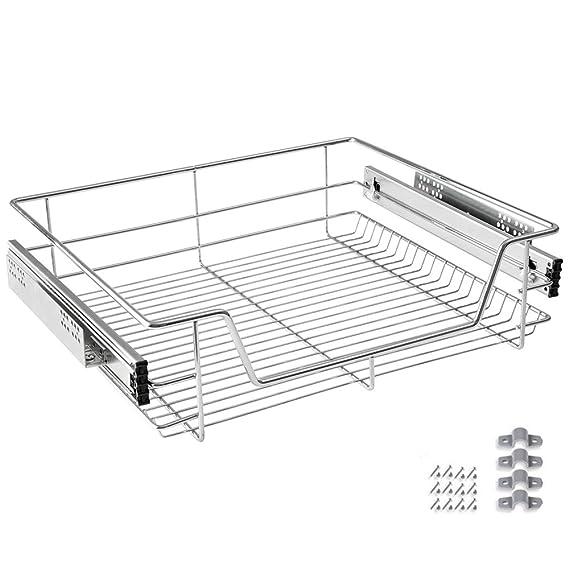 HENGMEI Cajón armario cajón extraíble cajón de cocina Estante Estantería de cocina cesta auszug Dormitorio cajón, 60 cm: Amazon.es: Hogar
