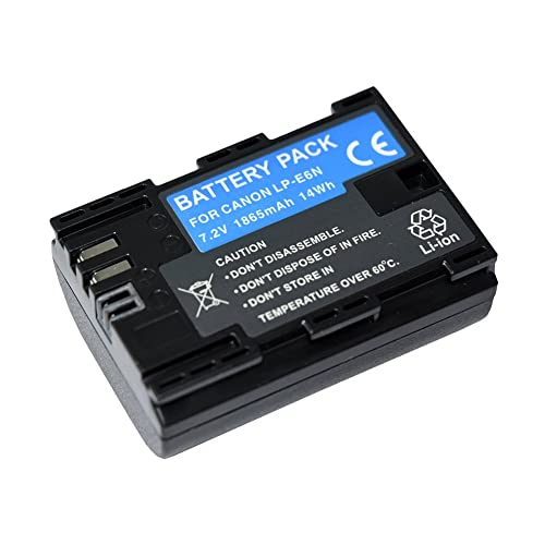 Mondpalast @ Replacement Battery LPE6 LPE6N 1865mAh Li-ion type with info chip for Canon EOS 5D Mark IV CANON 5D MARK 4 5d mk4 Canon EOS 80D Canon EOS 5DS Canon EOS 5DS R Canon EOS 7D Mark II eos 7d mark ii