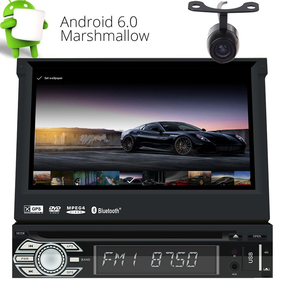 CD DVDプレーヤーEincar Androidの2ギガバイトのRAMのカーステレオ1ディンGPS土ナビゲーションバーと内蔵WIFIサポート3G、4G /電話リンク/ブルートゥース/ラジオRDS / SWC / USB / SD /サブウーファー/ CAMイン/ AV OUT / DAB + / OBD2フリーカメラ付き(アンドロイド6.0 Autoradio) B074NSVFDH