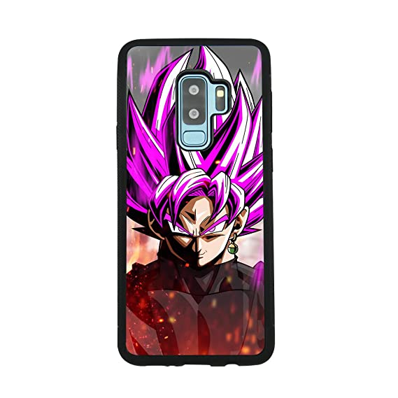 finest selection 59694 54d7b Dragon Ball Z Super Saiyan Rose Black Goku Case for Samsung Galaxy S9 Plus  TPU Silicone Gel Edge + PC Bumper Case Skin Protective Printed Phone Full  ...