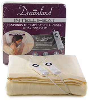 Dreamland Intelliheat Manta eléctrica con Control Dual eléctrica, doble: Amazon.es: Hogar