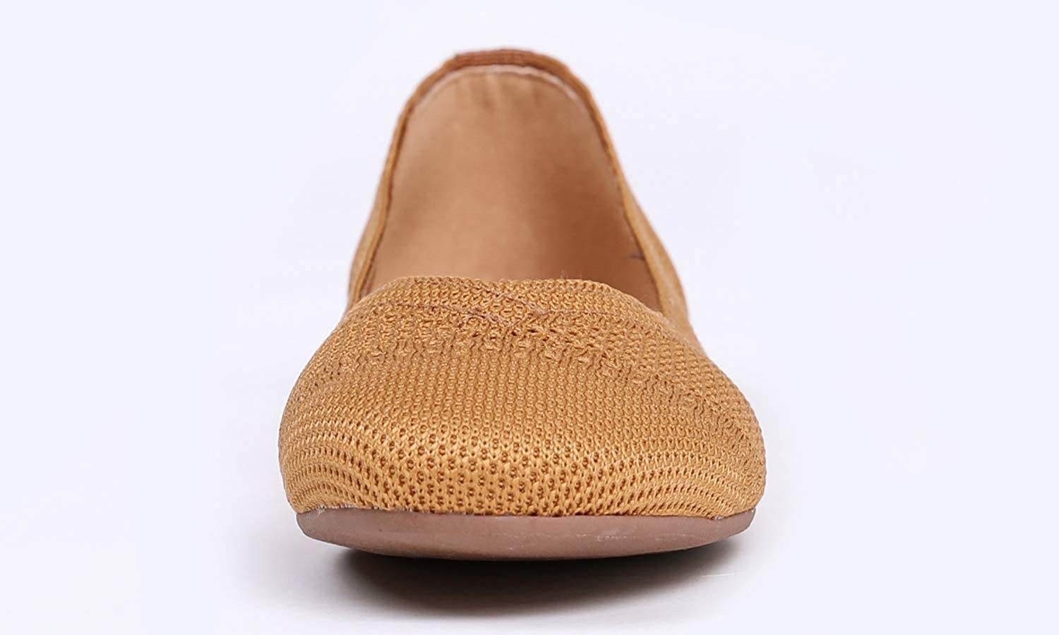 Feversole Womens Flyknit Fashion Breathable Knit Flat Shoes