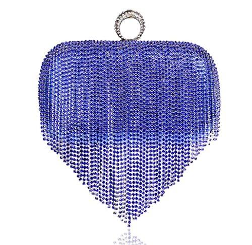 Sac Partie Main De De des Blue à Sac pour Gland Sac WenL Main à De De De D'Embrayage Mariage Clubs De Luxe FRnYwq