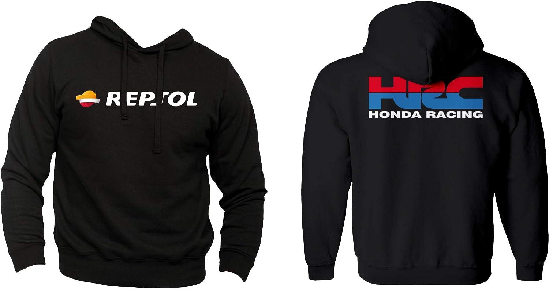 Felpa Personalizzata Honda Racing HRC Moto GP Repsol Motors Marquez MM93 Sport Senza Tascone Non Ufficiale