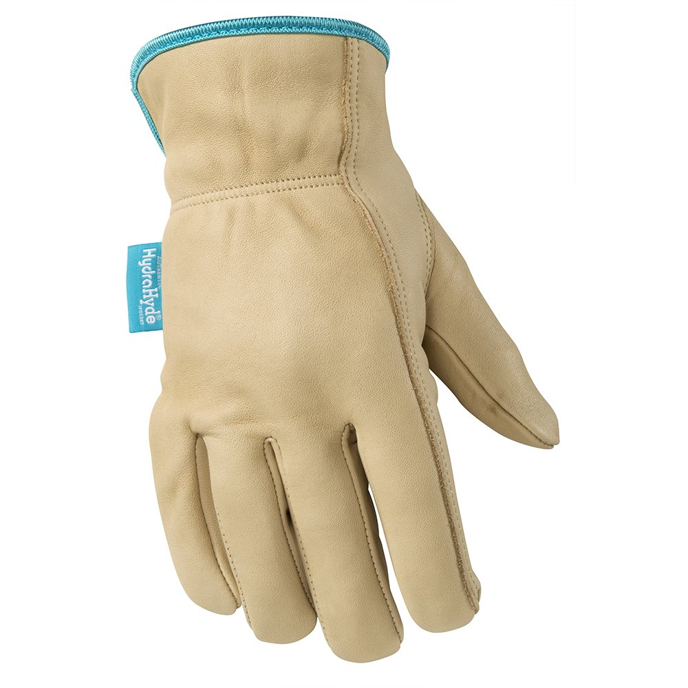 Wells Lamont 1167L Water-Resistant Cowhide Leather Work Gloves, Large