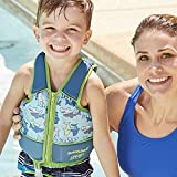 Swim School- Confidence Building System Boys Printed Swim Vest with Safety Strap, Medium/Large