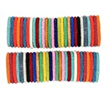 goldenlines Random mix of 12 Solid colors Nepal bracelets Roll On Bracelet (SET OF 12)