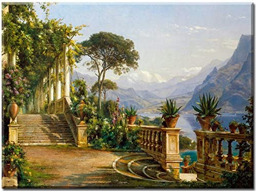 Pergola in Amalfi - cuadro en lienzo, Carl Frederic Aagaard ...
