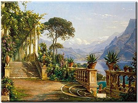 Pergola in Amalfi - cuadro en lienzo, Carl Frederic Aagaard, impresión de alta calidad, impresión digital sobre