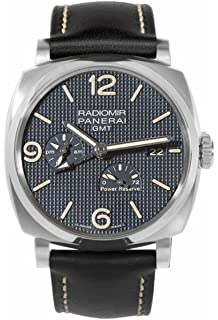 Panerai Mens Radiomir 1940 45mm Black Leather Band Steel Case Sapphire Crystal Automatic Watch PAM00628