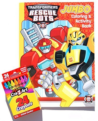 Transformers Rescue Bots Jumbo Coloring and Activity Book wi