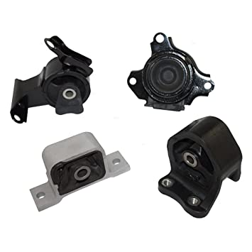 Engine And Transmission >> Engine Transmission Motor Mounts Kit 4 Piece Set Replacement For 02 06 Honda Cr V 2 4l Automatic Transmission 50810 S7d 003
