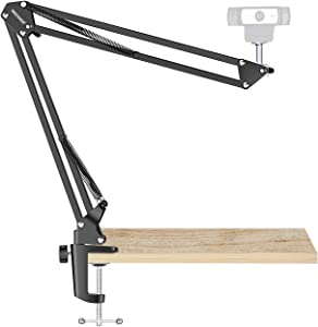 Neewer Adjustable Desktop Clamp Suspension Boom Scissor Arm Stand Holder 360 Degree Rotation Swivel Mount for Logitech Webcam C922 C930e C930 C920 C615, Load up to 2.2 pounds/1 kilograms