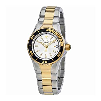 Technomarine Womens Sea Manta Quartz Stainless Steel Casual Watch, Color:Two Tone