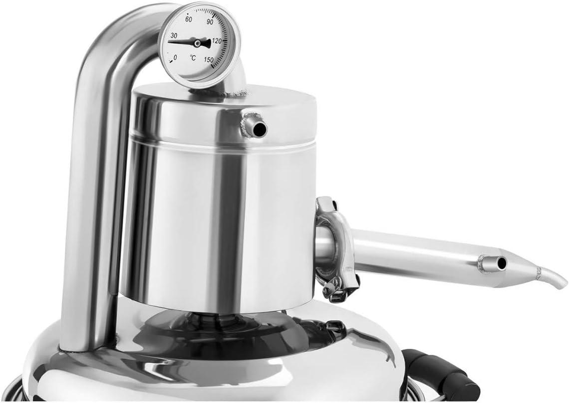 Royal Catering Alambique Destilador RCAD 10 (10 L, termómetro ...