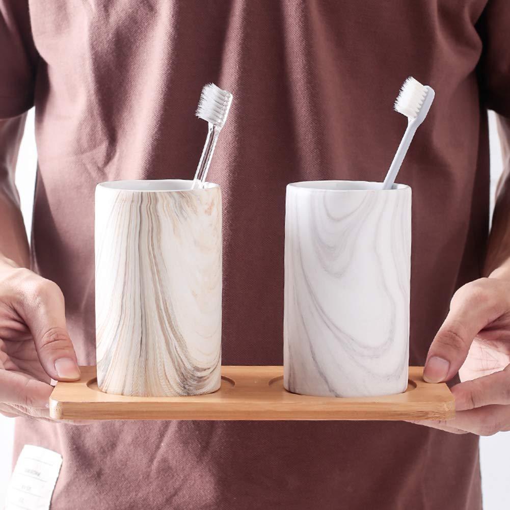 ZDM-Keramik-Zahnputzbecher Keramik-Paarbecher Marmormuster
