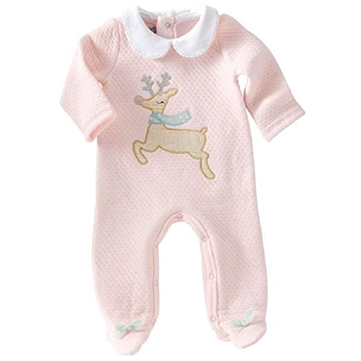 040ce1ae65 Amazon.com  Mud Pie Reindeer Footed Sleeper  Clothing