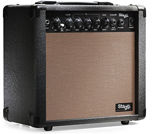 Stagg 15 AA DR USA 15-Watt Acoustic Guitar Amplifier with Digital Reverb