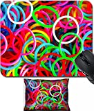 MSD Mouse Wrist Rest and Small Mousepad Set, 2pc Wrist Support design 30034137 colorful background rainbow colors rubber bands loom