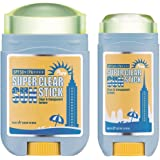 May NewYork Sunscreen Stick x2PACK Super Clear Pure Sunstick SPF50+ PA++++ - Convenient Stick Type Defense Against UV Rays and Sunburn - Water and Sweat Proof / Easy Glide on Skin (0.60oz+0.77oz) …