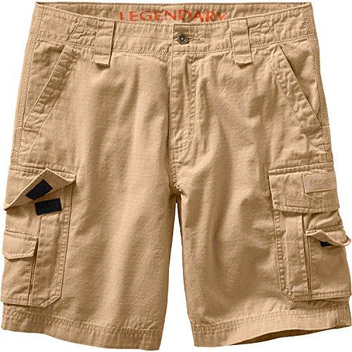 Legendary Whitetails Mens Ripstop Cargo Shorts Desert Khaki