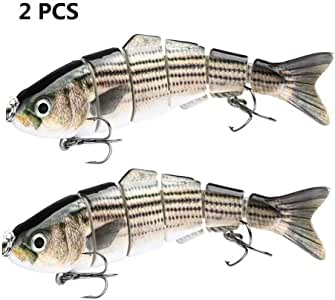Fishing Baits For Bass Trout Multi Jointed Swimbaits Slow Sinking Bionic Lures