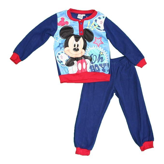 Mickey Mouse - Pijama Dos Piezas - para niño Azul Marino 3 Años