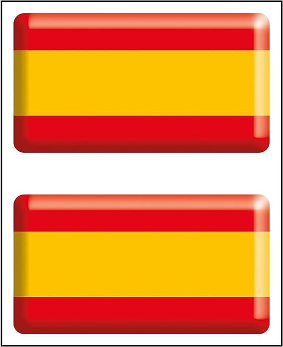 Artimagen Pegatina Bandera Rectángulo 2 uds. España Resina 48x26 mm/ud.: Amazon.es: Coche y moto