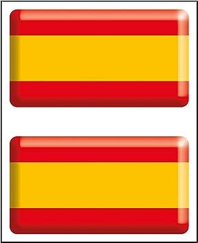 Artimagen Pegatina Bandera Rectángulo 2 uds. España Resina 48x26 ...
