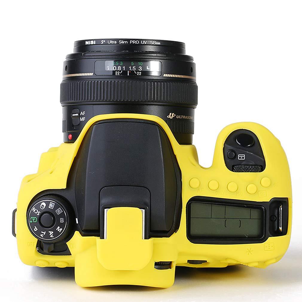 Verde Cuerpo Completo Caucho de TPU Funda Estuche Silicona para c/ámara para Canon EOS 90D