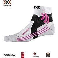 X-Socks Marathon WMN Socks, Unisex Adulto, Arctic White/Pearl