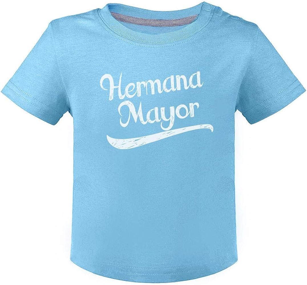 Green Turtle T-Shirts Camiseta para niños - Hermana Mayor - Regalo para Futura Hermana Mayor 6M Celeste: Amazon.es: Ropa y accesorios