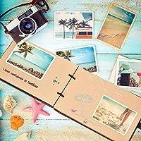 ZEEYUAN Álbum de Fotos 29 x 19 cm,Libro de Recuerdos para Recuerdos de Cumpleaños, Aniversarios, San Valentín y Celebraciones. Libro de Fotos 80 ...