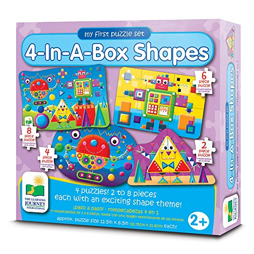 The Learning Journey My First Puzzle Sets 4-In-A-Box Puzzles, Shapes