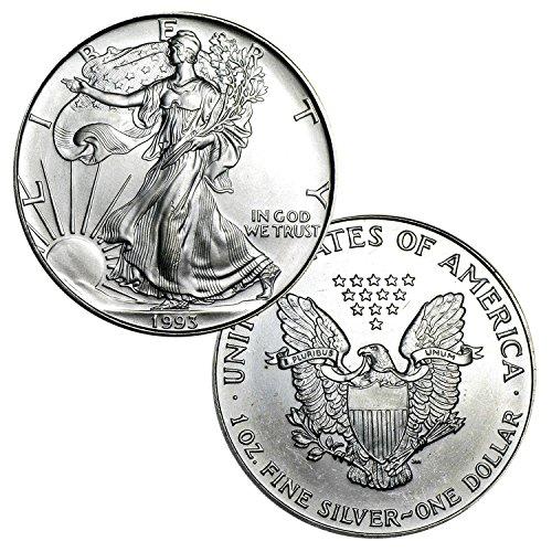 (1993 American Silver Eagle $1 Brilliant Uncirculated)