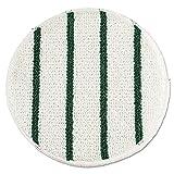 Low Profile Scrub-Strip Carpet Bonnet, 19'' Diameter, White/Green, 5/Carton