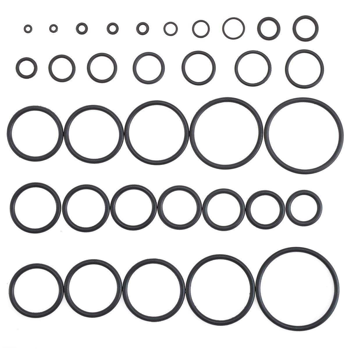 32 Sizes 3-50mm Diameter KATUR Universal O-Ring Assortment Automotive 419Pcs Metric Set General Repair Black Rubber O-Rings for Plumbing