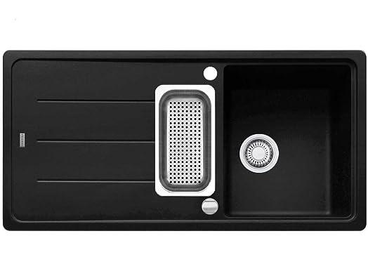 Franke Basis BFG 651 Kitchen Sink Onyx Fragranite Granite, Black ...